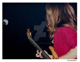 Bassist and the mic