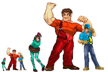 Wreck It Ralph Crew in Sprite Form