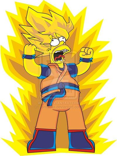 Super Saiyan Homer Simpson by tonatello