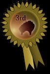 Fluff Balls Rosette - Bronze by PomPrint