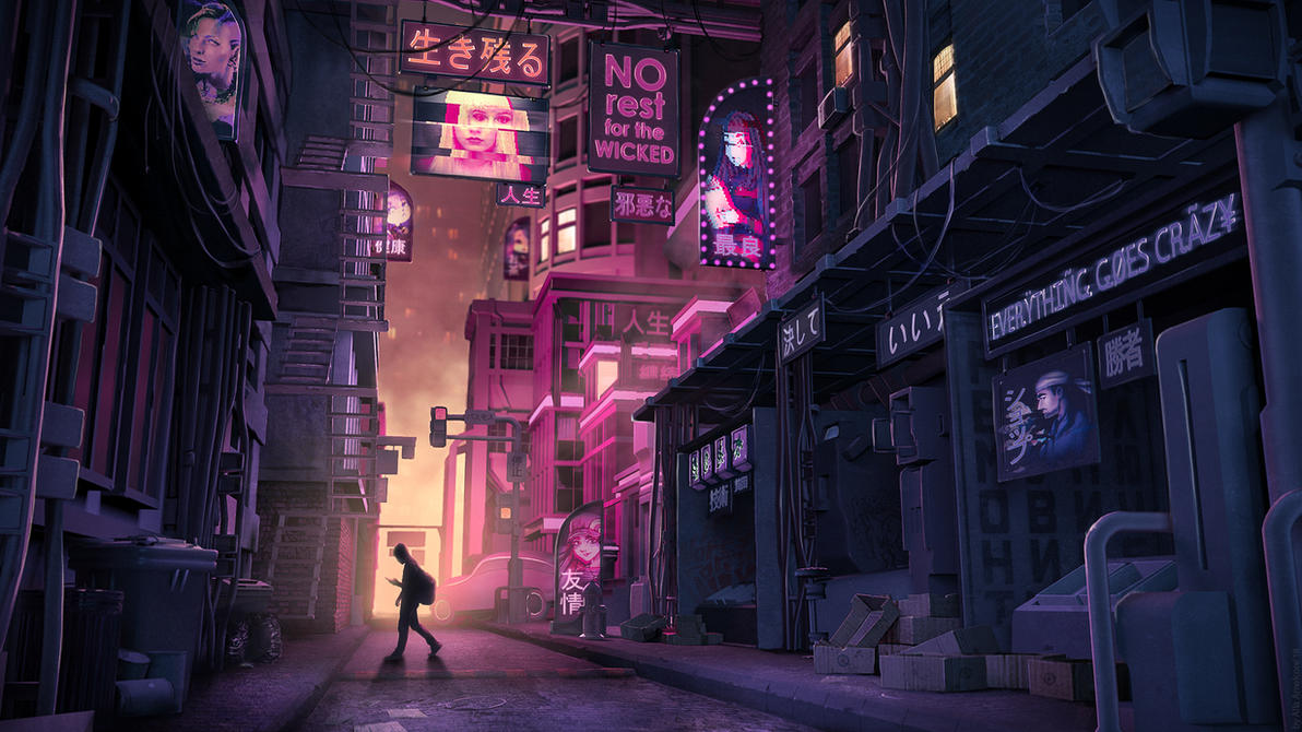 Glitch in the City by amelcore