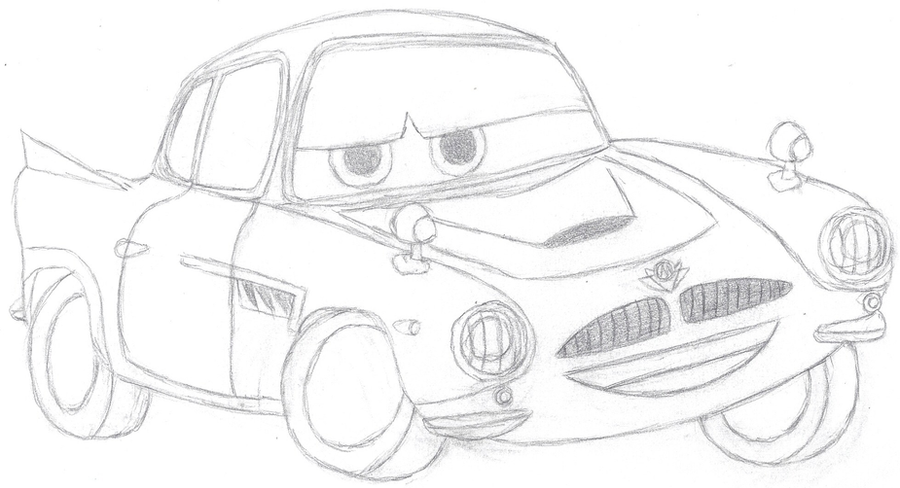Cars finn mcmissile sketch by bowser the second on deviantart for Finn mcmissile coloring page