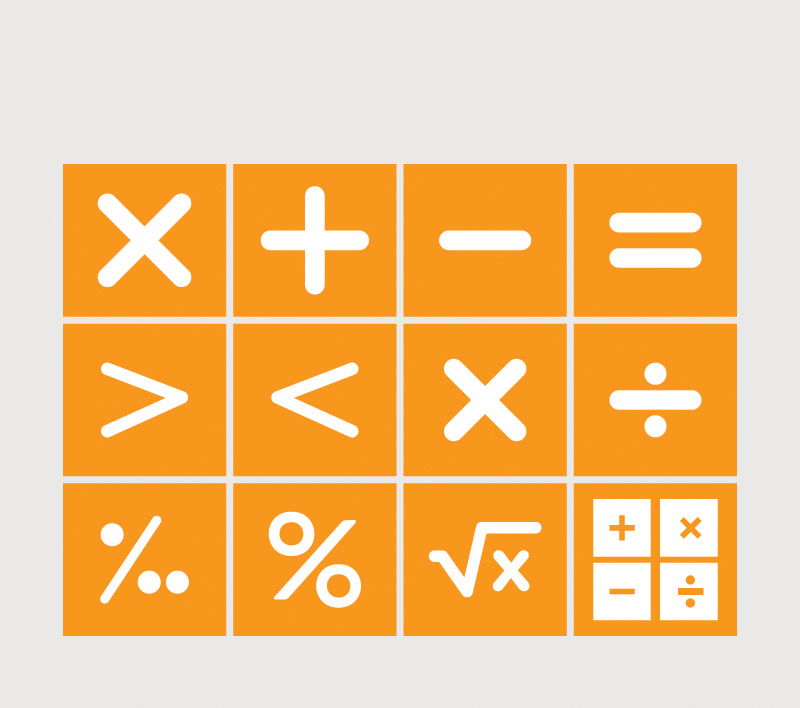 Math Symbols Set Design Free Vector File By Gm By Graphicmore On