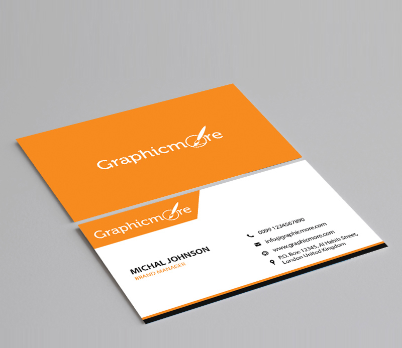 Corporate Business Card Template Design Free PSD by