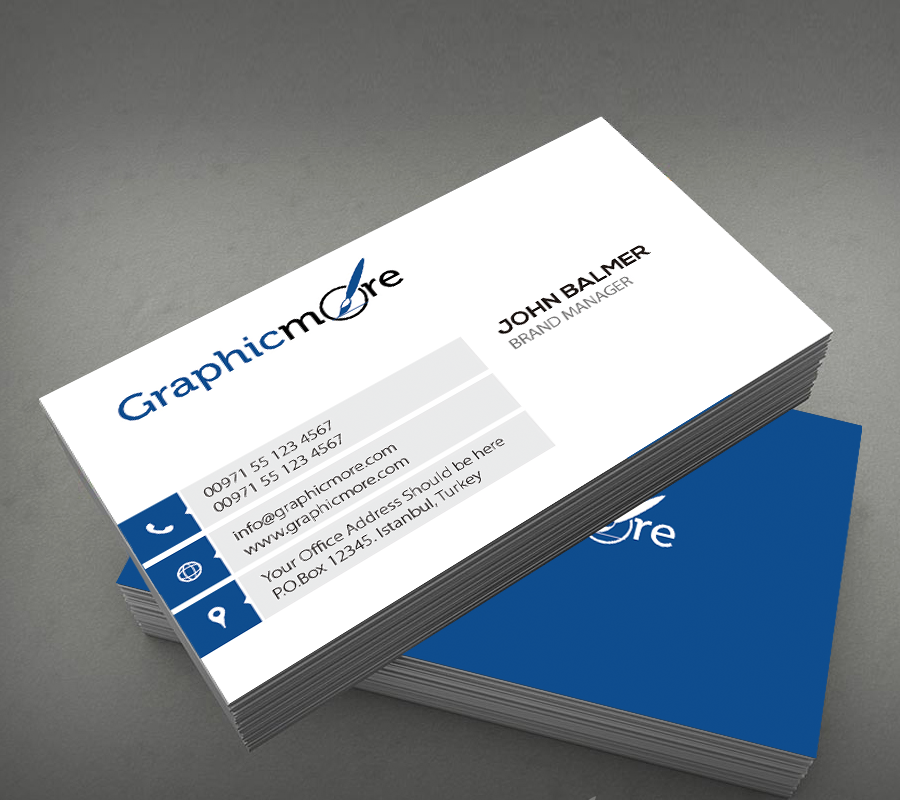 Stylish Business Card Design by GraphicMore on DeviantArt