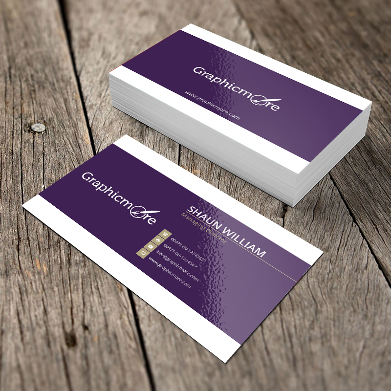 Purple Creative Business Card Template and Mockup by GraphicMore ...
