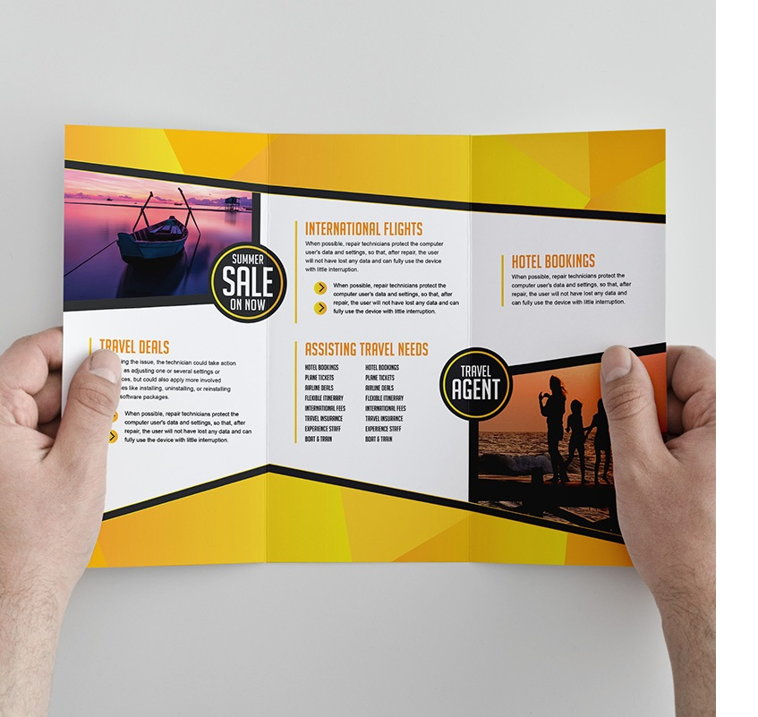 Free Trifold Brochure Template For Travel Agencies By Graphicmore On