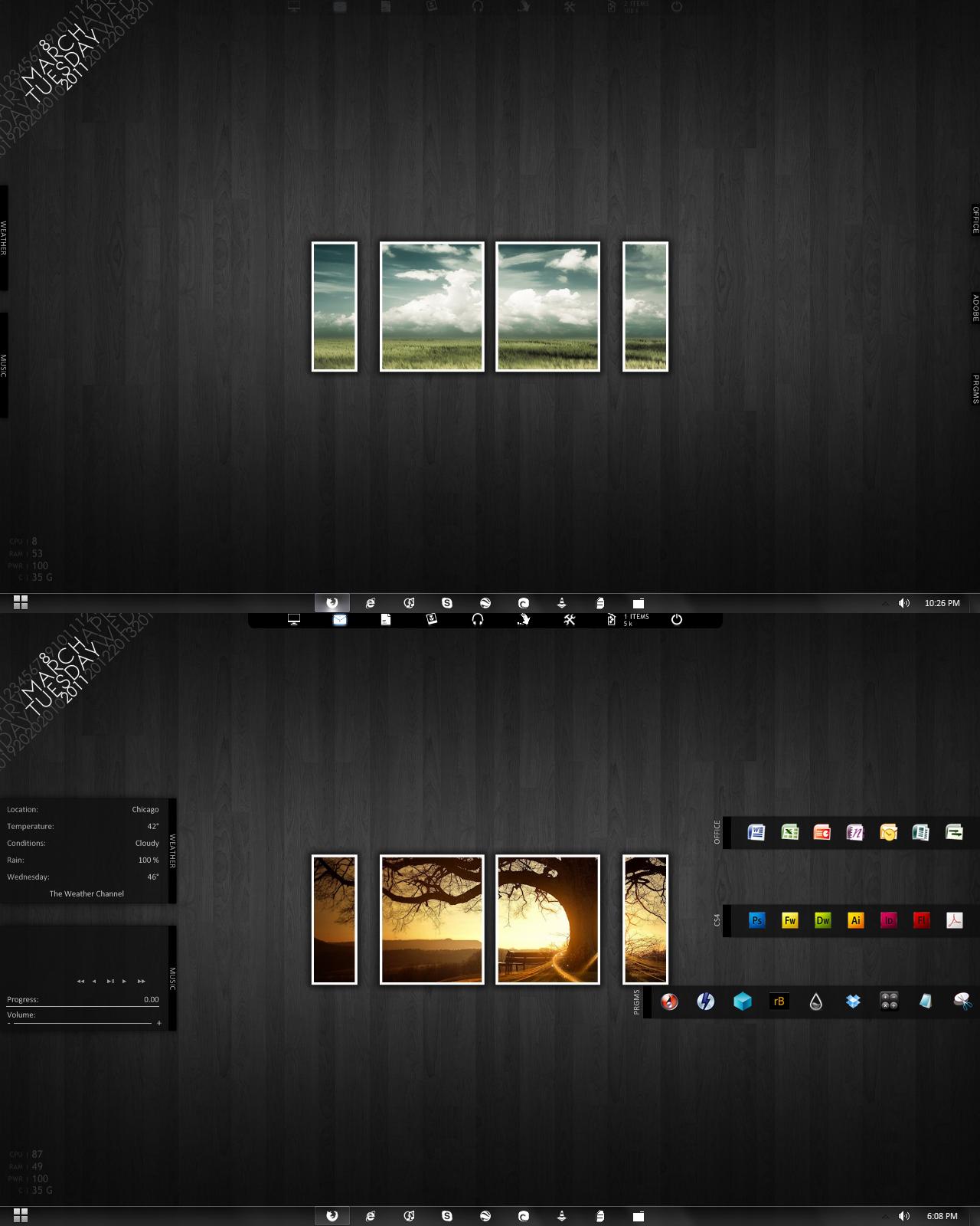 My first minimalist desktop by 007bp