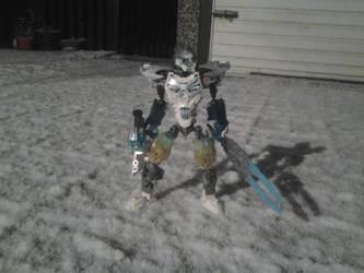 Kopaka on a snowy night by Rexart35