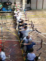 16 Archers Standing in Line by Aegis-Laetis