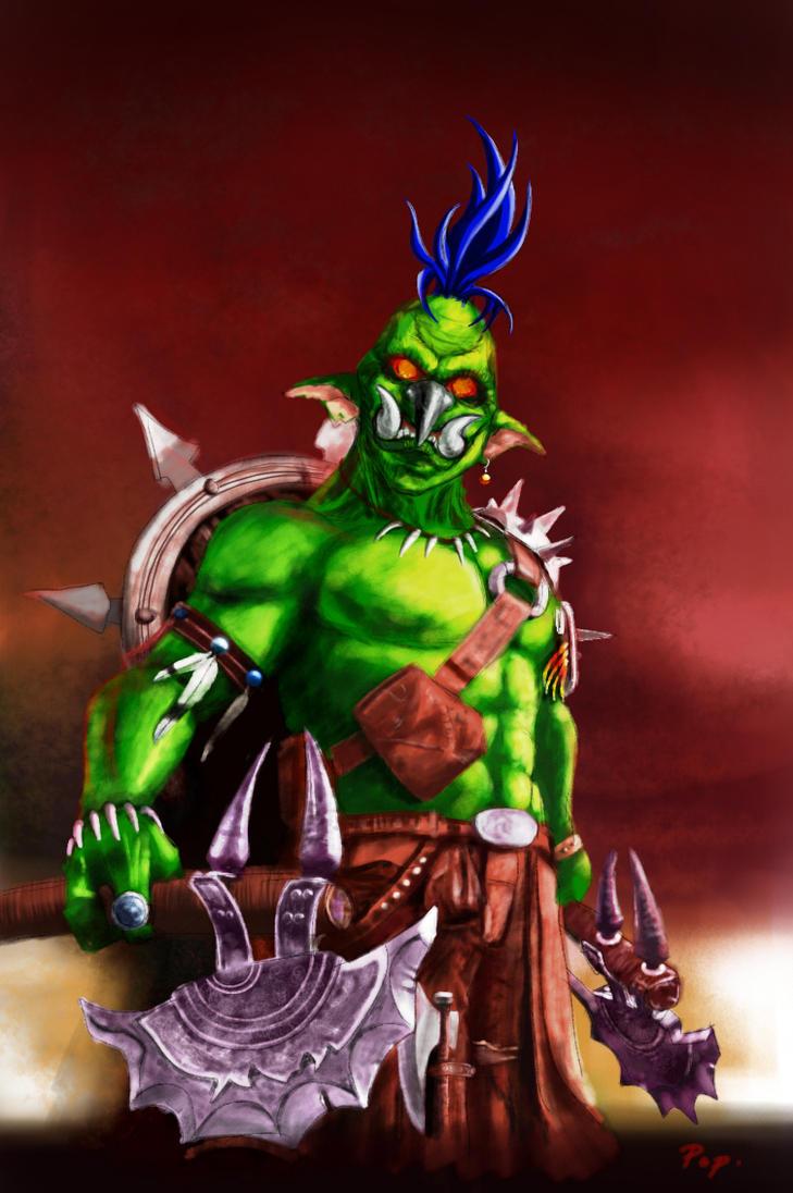 Troll Warlord : Jah'rakal by raretak