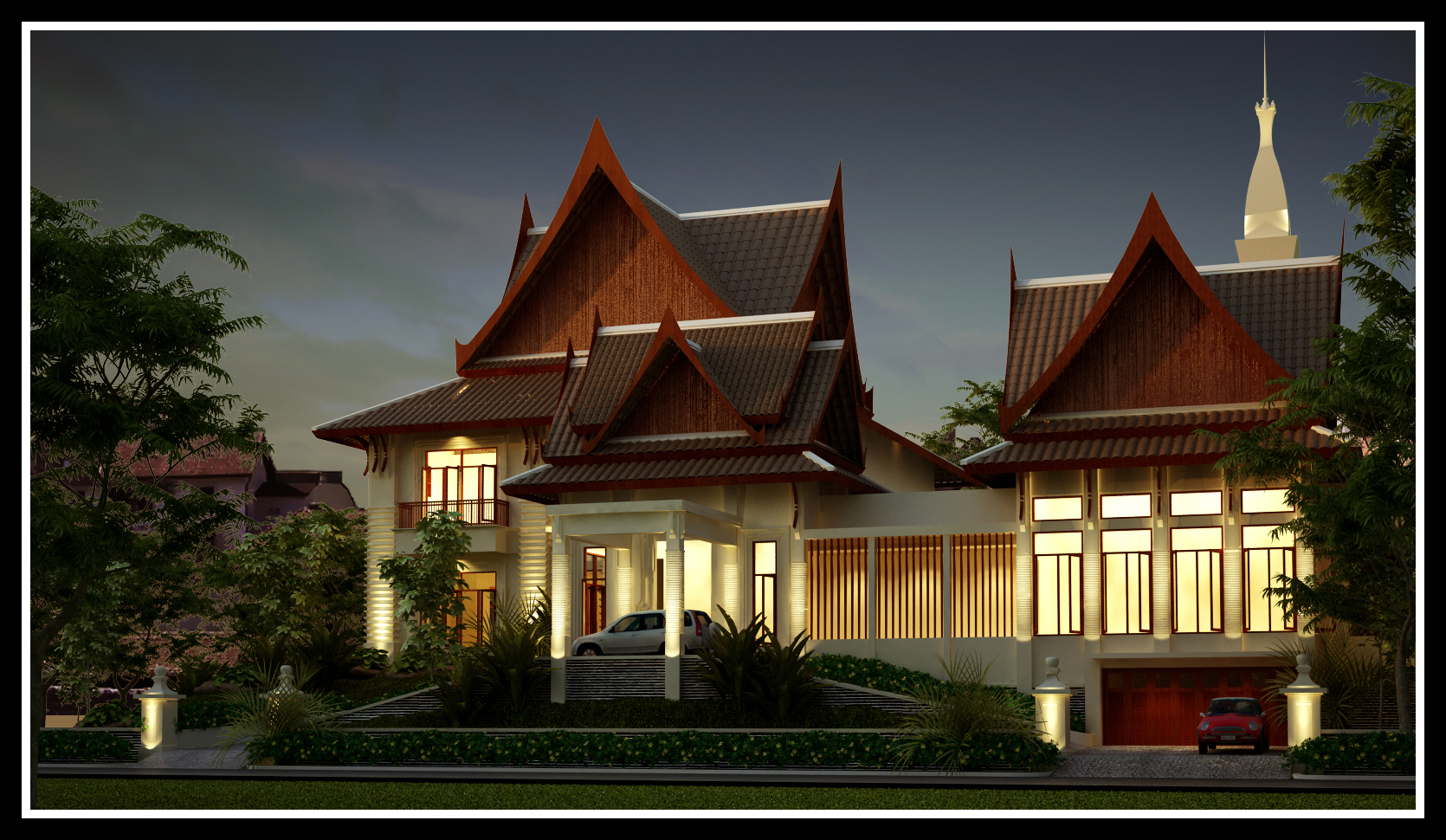 Thai modern by r3ynard on deviantart for Thai style house design