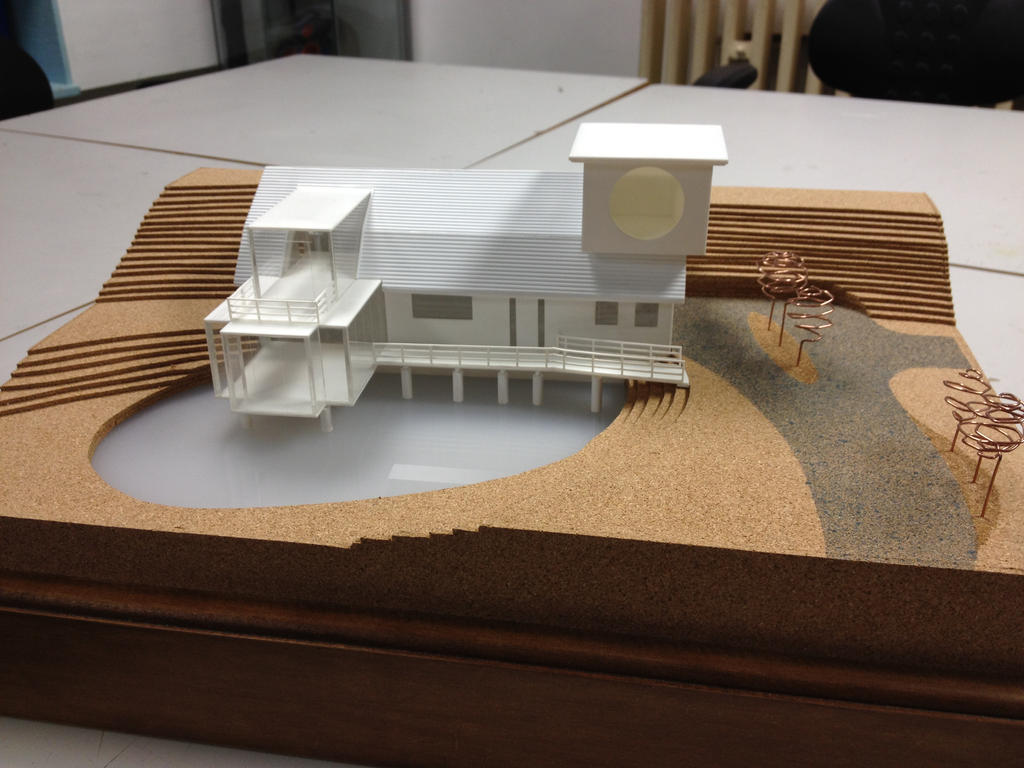 Architectural model by mrneon on deviantart for Architecture house models