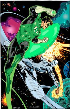 Green Lantern vs Silver Surfer