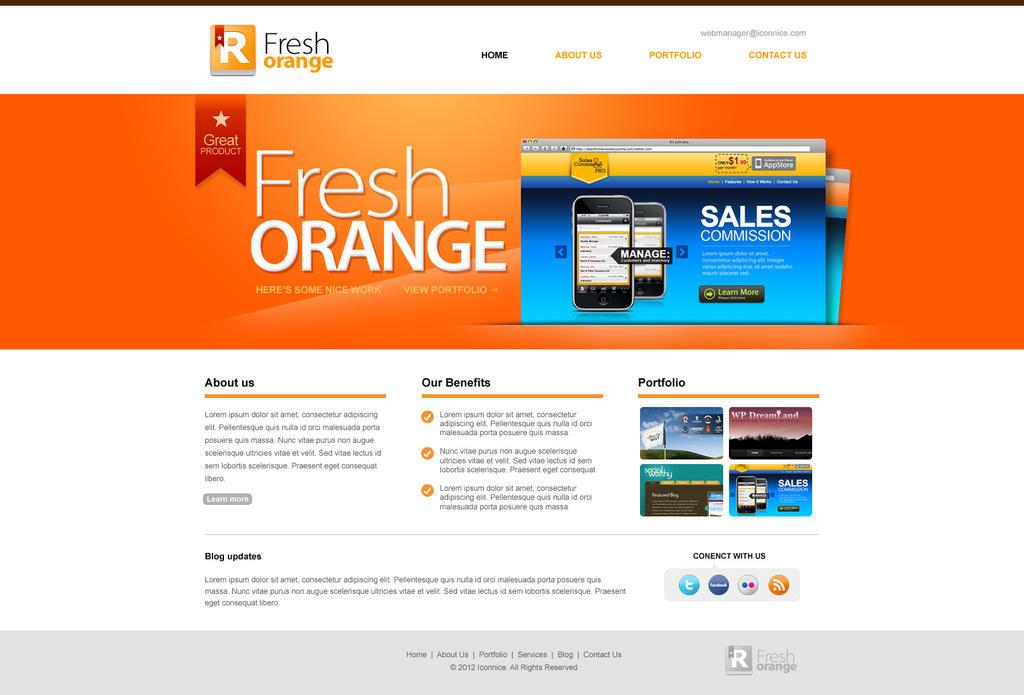 Flesh Orange Portfolio Web Template By Iconnice On Deviantart