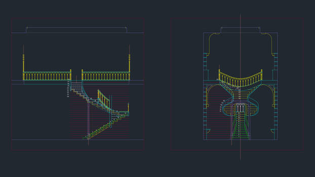 WIP - Stair elevations in AutoCAD