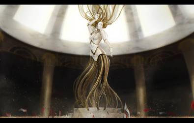 Steampunk Aphrodite by MarkoTheSketchGuy