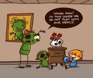 Doodletoonz in: Zombie food by Nikonah