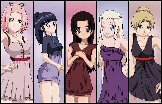 Naruto girls favourites by sasusaku love bunny on deviantart lexisss 621 89 kunoichi girls dress up by zombiegiraffes voltagebd Gallery