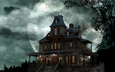 Haunted Manor by latenightrabbit