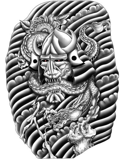 Hannya tattoo design for sale open by halasaar01 on for Tattoo stuff for sale