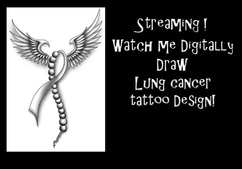 Drawing session! Lung Cancer tattoo design! by Halasaar01 on DeviantArt