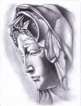 Traditional Drawing Michelangelo's Pieta!