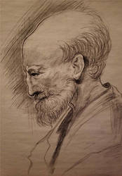 Old Man Charcoal Study!