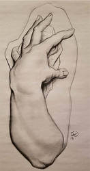 Charcoal Arm Drawing!
