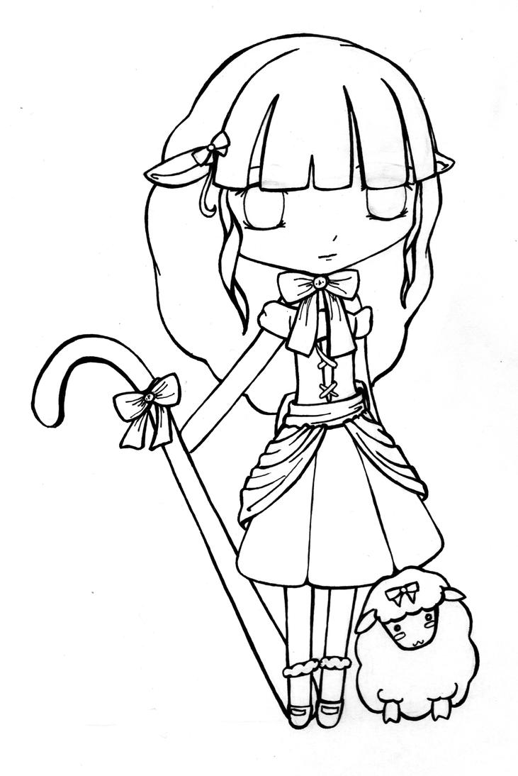 Little Bo Peep Coloring Coloring Pages