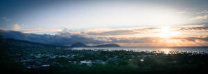 Sunrise from Diamond Head National Park Crater