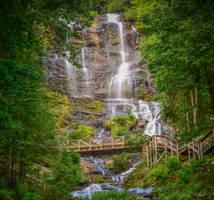 Amicalola Falls State Park: Upper Falls part 3 by Natures-Studio
