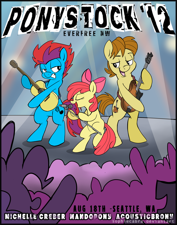 EverfreeNW Ponystock '12 Promo Poster by sophiecabra
