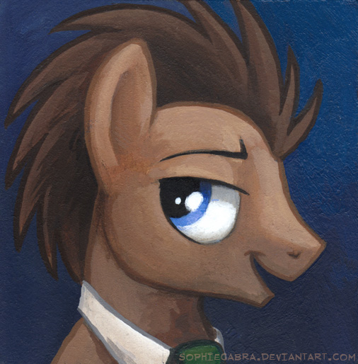 Square Series - Dr. Whooves by sophiecabra