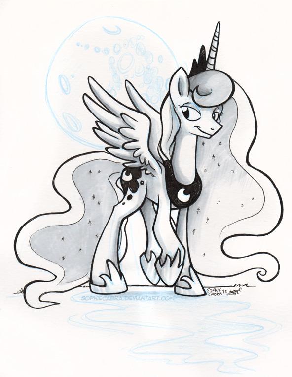 Sketch - Princess Luna by sophiecabra