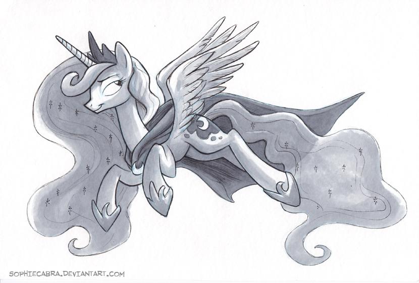 Sketch - Luna by sophiecabra