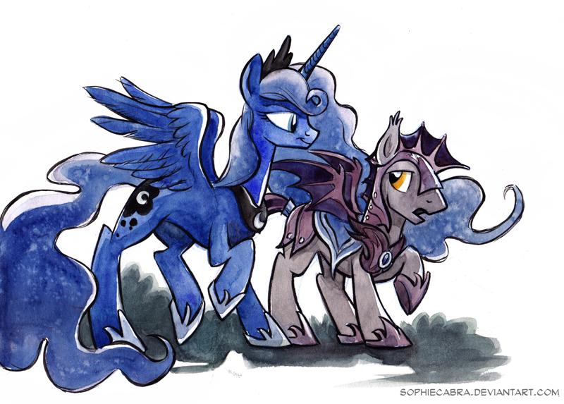 Sketch - Luna's Guard by sophiecabra