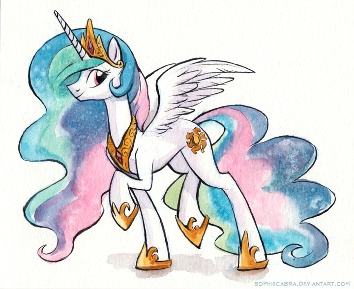 Sketch - Princess Celestia by sophiecabra