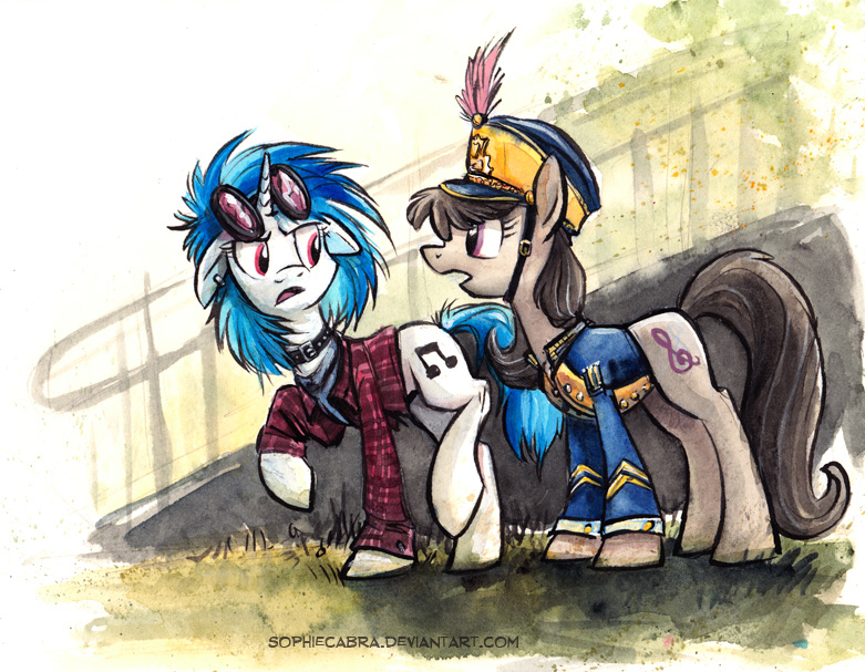 Canterlot High - The Band Geek and the Drop Out by sophiecabra