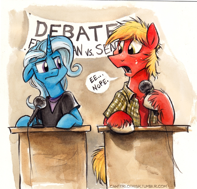 Canterlot High - The Debate Team by sophiecabra