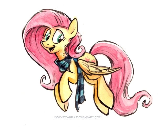 Sketch - Flutterscarf by sophiecabra