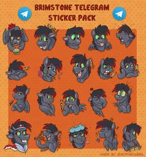 Telegram Sticker Pack - Brimstone