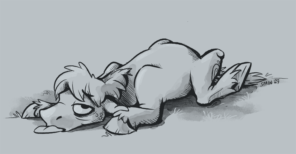 Inktober - Exhausted by SpainFischer