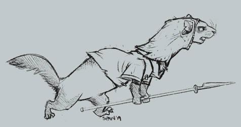 Redwall Baddie - The Ferret by SpainFischer