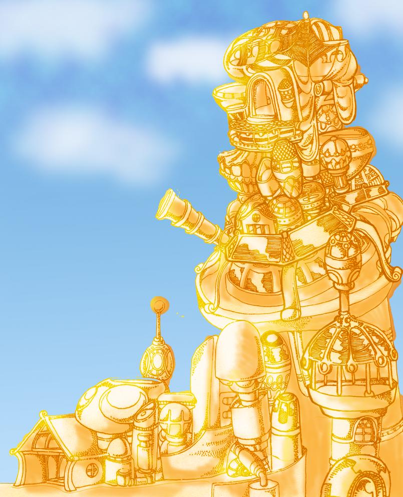 Light Elf City Chunk by Cartoon-boom