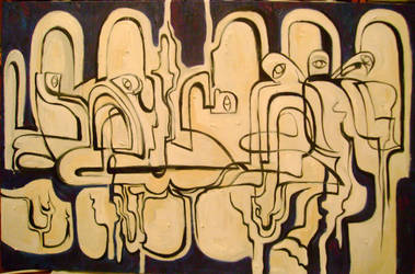 Oil on canvas, 60x120 by Lyaman