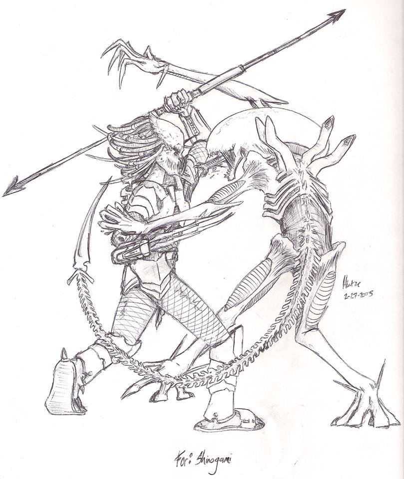 predator alien coloring pages - photo#19