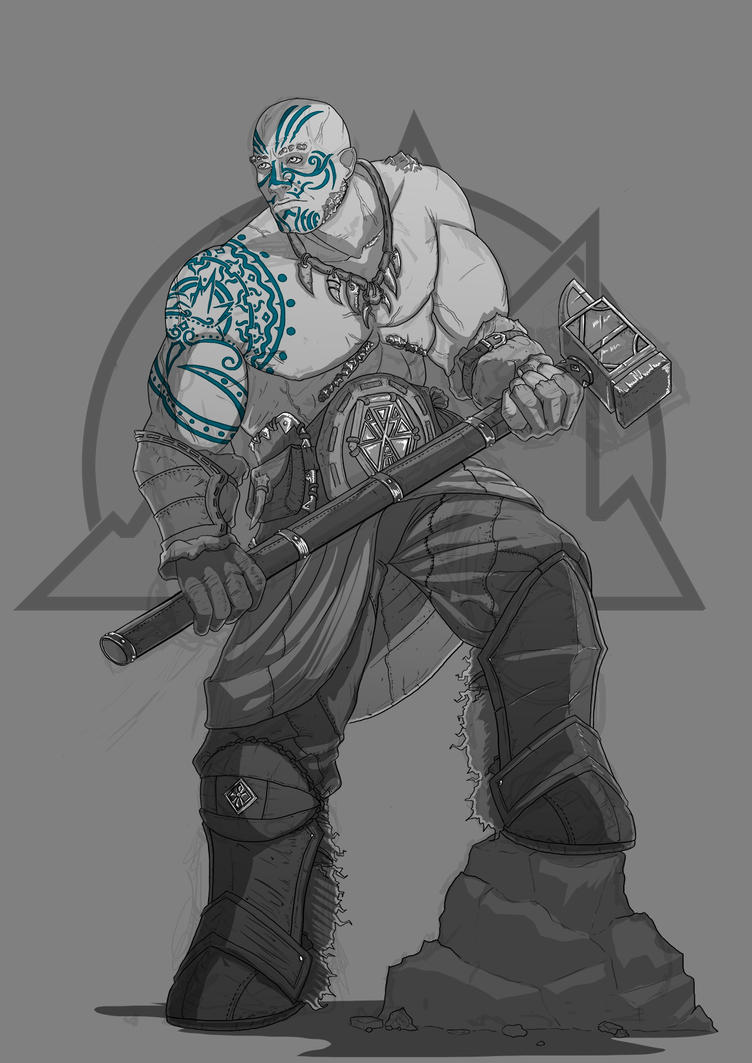 Goliath Barbarian by NatteRavnen