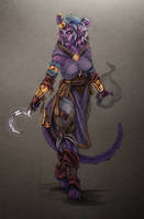 Tiefling Shadowmonk by NatteRavnen