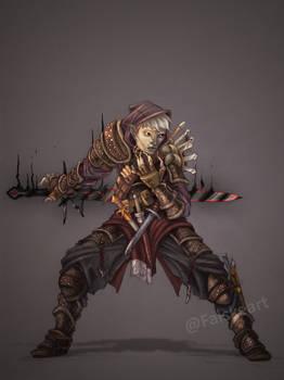 Comission- Halfdrow Assassin